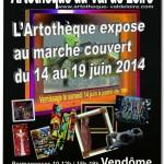 L'Artothèque expose au marché couvert de Vendôme du 14 au 19 juin 2014