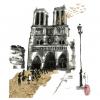 Un tableau de Jacques El Khaddar au profit de Notre Dame de Paris